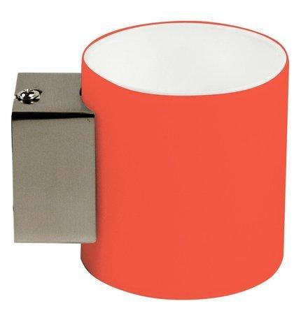 Kinkiet pomarańczowy walcowy szklany lampa 40W G9 Simonet Candellux 21-04898
