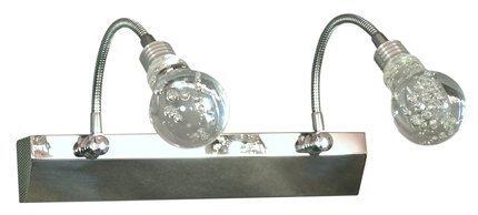 LAMPA ŚCIENNA CANDELLUX WYPRZEDAŻ 22-27047 ACRYLIC LED KINKIET 2X2W LED CHROM TRANSPARENT
