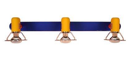 LAMPA ŚCIENNA CANDELLUX WYPRZEDAŻ 23-01675 L&H BABY-SPOT LISTWA 3X40W E14 MULTIKOLOR