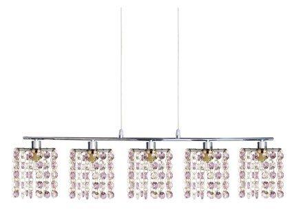 LAMPA SUFITOWA CANDELLUX WYPRZEDAŻ 35-59294 CLASSIC ZWIS 5X40W G9 FIOLETOWY