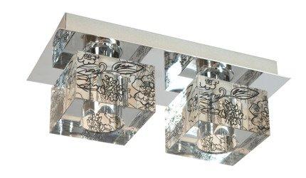 LAMPA SUFITOWA CANDELLUX WYPRZEDAŻ 92-16730 SABIA LISTWA 2X40W G9 CHROM