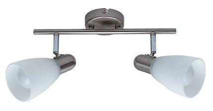 LAMPA SUFITOWA CANDELLUX WYPRZEDAŻ 92-32426 ELIPSA LISTWA 2X7W E 14 ENERGO NIKIEL MAT