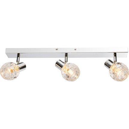 Lampa ścienna sufitowa chrom szklany klosz 3xE14 40W Keith Globo 541007-3