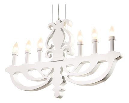 Lampa sufitowa wisząca 6x40W E14 biały Damar Outlet Candellux 36-26272
