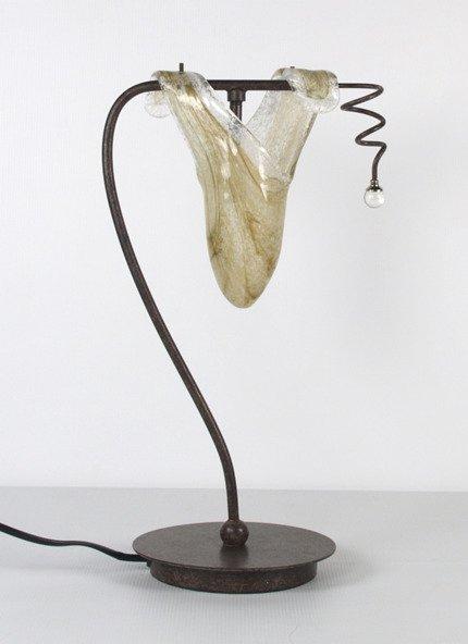 Lampka biurkowa nocna patyna 40W G9 L&H Magma Candellux 41-84760