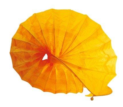 Lampka biurkowa papierowa nocna żółta 40W Ślimak Candellux 41-88416