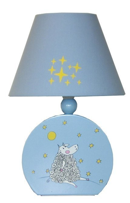 Lampka nocna dziecięca niebieska owieczka 40W E14 Dolly Candellux 41-25206