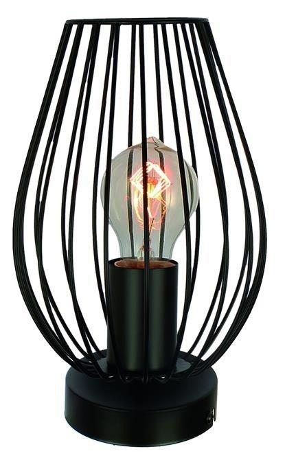 Lampka stołowa czarny koszyczek Factoria 41-66732