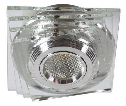 Oprawa stropowa bezbarwna LED 3W szkło kwadrat SS-32 Candellux 2228808