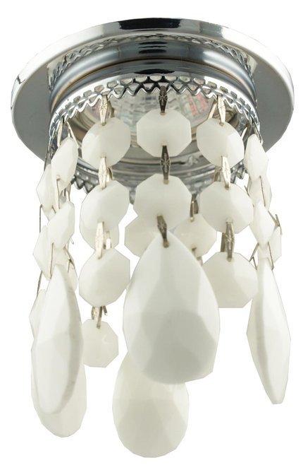 Oprawa stropowa biała z kryształkami MR16 50W SK-64 Candellux 2245150