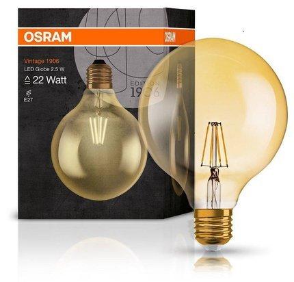 Żarówka LED E27 2,5W 220LM 2400K VINTAGE GLOBE125 22 OSRAM