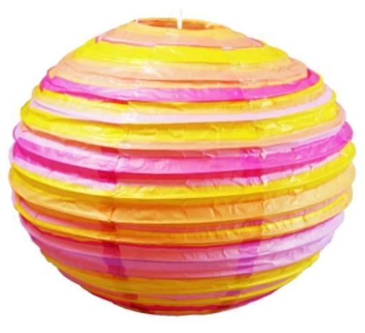 Abażur papierowy pomarańczowo-różowy kula 50cm Kokon Candellux 70-16631