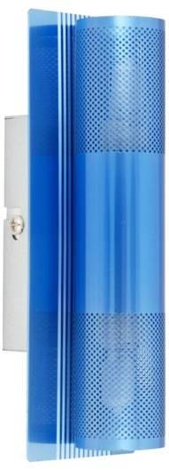 Kinkiet błękitny lampa ścienna 2x40W Emu 91-07837