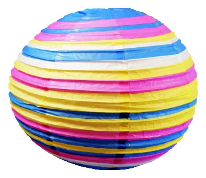 Kula papierowa niebiesko-różowa abażur 40cm Kokon Candellux 31-16044
