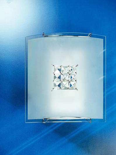 LAMPA SUFITOWA CANDELLUX WYPRZEDAŻ 10-74648 CRISTAL-PLAFON 1X40W E27 BIAŁY 2150/1 KWADRAT