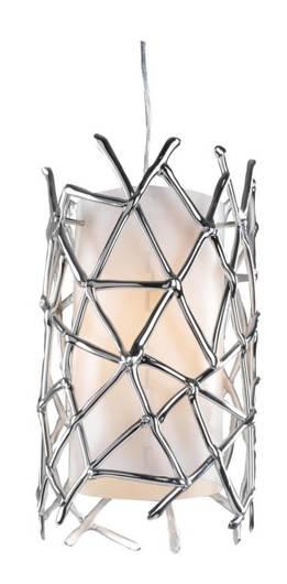 LAMPA SUFITOWA CANDELLUX WYPRZEDAŻ 31-24995 MISTIC ZWIS 1X60W E27 23X24CM CHROM