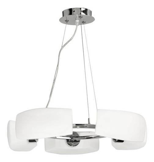 LAMPA SUFITOWA CANDELLUX WYPRZEDAŻ 35-27590 BARI ZWIS 5X40W G9 CHROM