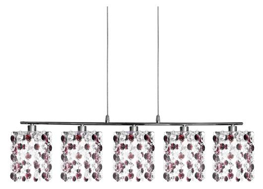 LAMPA SUFITOWA CANDELLUX WYPRZEDAŻ 35-97029 CLASSIC ZWIS 5X40W G9 BURGUND