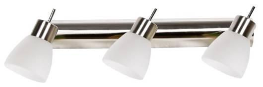 LAMPA SUFITOWA CANDELLUX WYPRZEDAŻ 93-17055 VENICE  LISTWA 3*40W G9 NIKIEL MAT KLOSZ BIAŁY