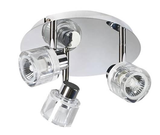 LAMPA SUFITOWA CANDELLUX WYPRZEDAŻ 98-28122 DENAR PLAFON 3X50W GU10 CHROM