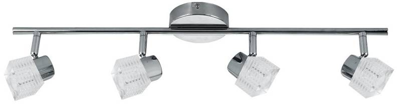 Lampa sufitowa ścienna chrom listwa 4x40W G9 Malachit Candellux 94-31689
