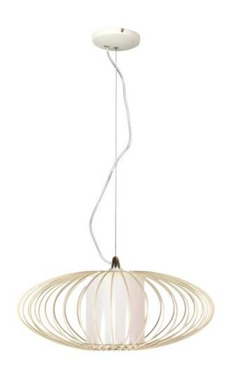 Lampa wisząca biała metalowy abażur E27 60W Himera Candellux 31-27361