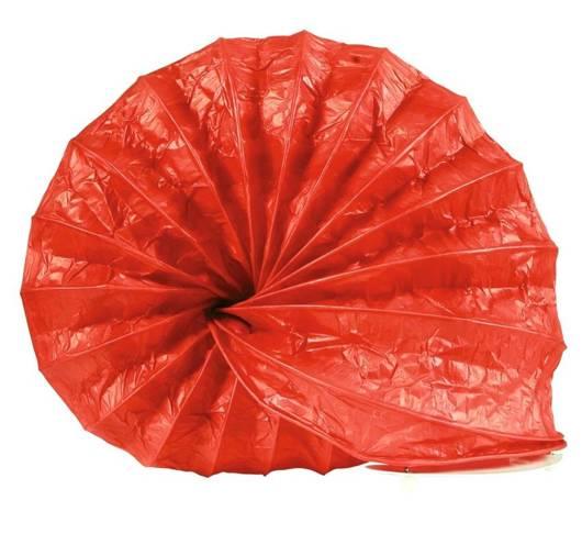 Lampka biurkowa papierowa nocna czerwona 40W Ślimak Candellux 41-88393