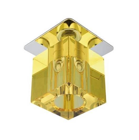 Oprawa stropowa chrom kryształ żółty G4 20W SK-18 Candellux 2280083