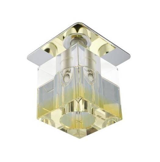 Oprawa stropowa chrom kryształ żółty pasek G4 20W SK-18 Candellux 2280076