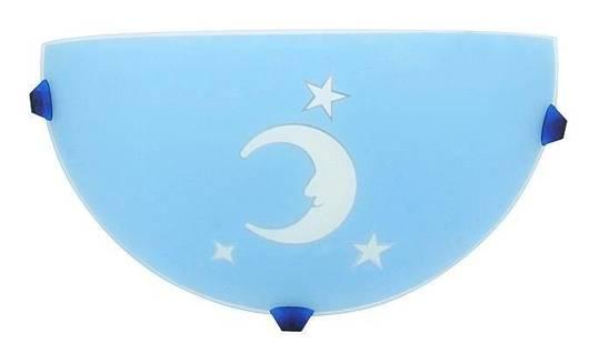 Plafon dziecięcy lampa ścienna księżyc błękitny 11-30125