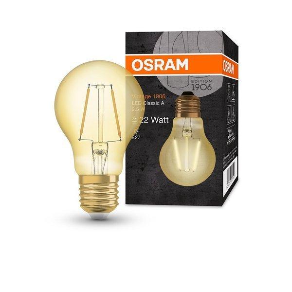 Żarówka LED E27 2,5W 220LM 2400K VINTAGE A22 OSRAM